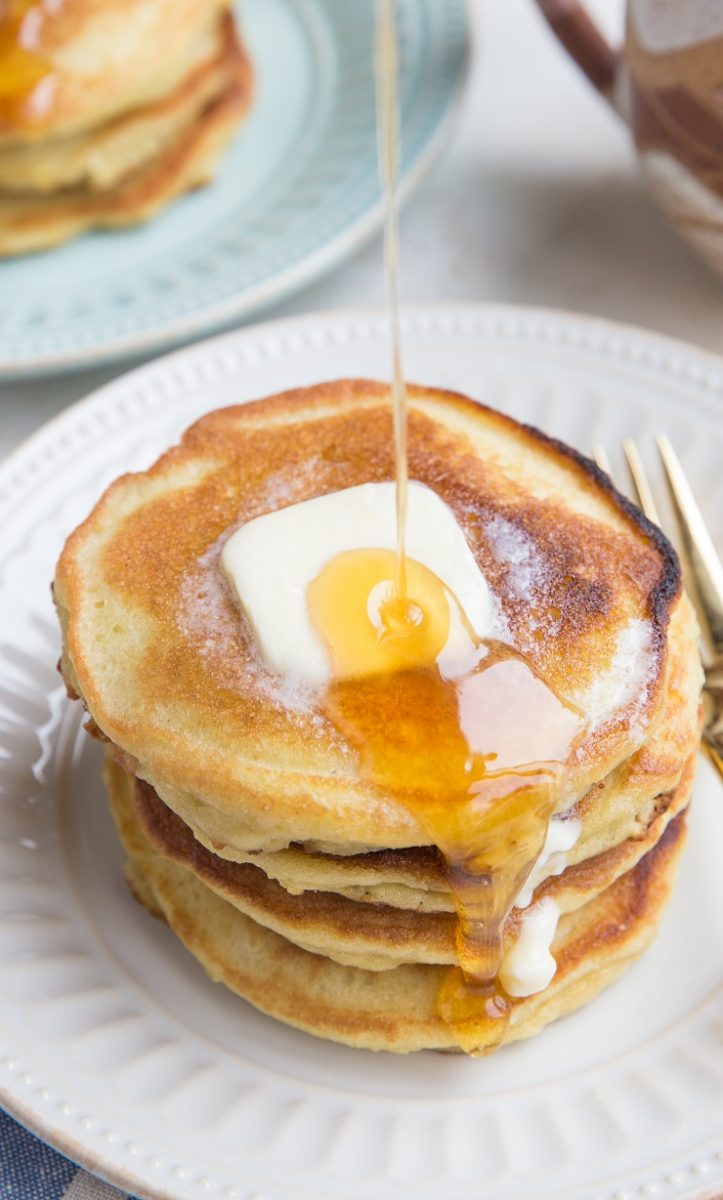 You'd never guess these Keto Pancakes are grain-free! They're magically fluffy and delicious!