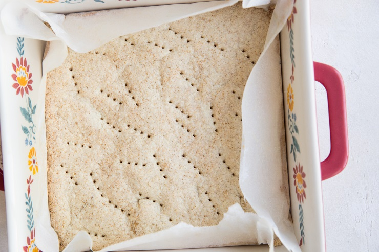 Bake the crust until golden-brown