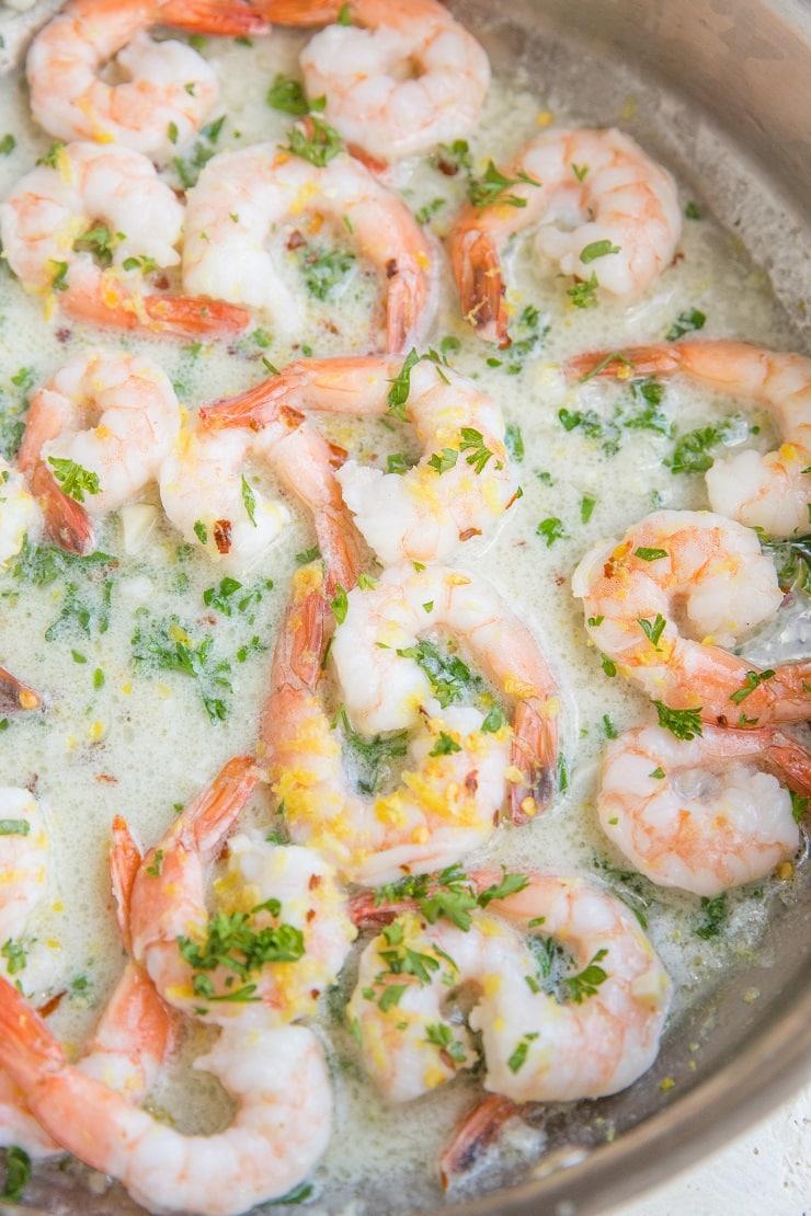 Creamy shrimp for shrimp pasta