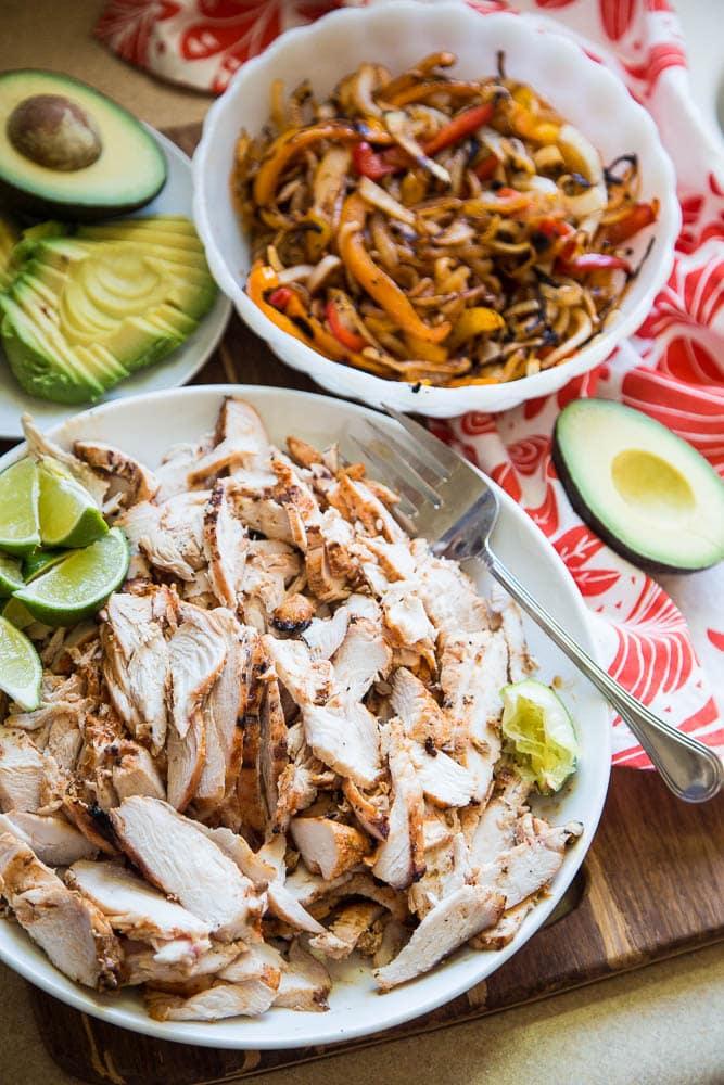 The Best Chicken Fajitas - quick, easy paleo whole30 keto fajita recipe