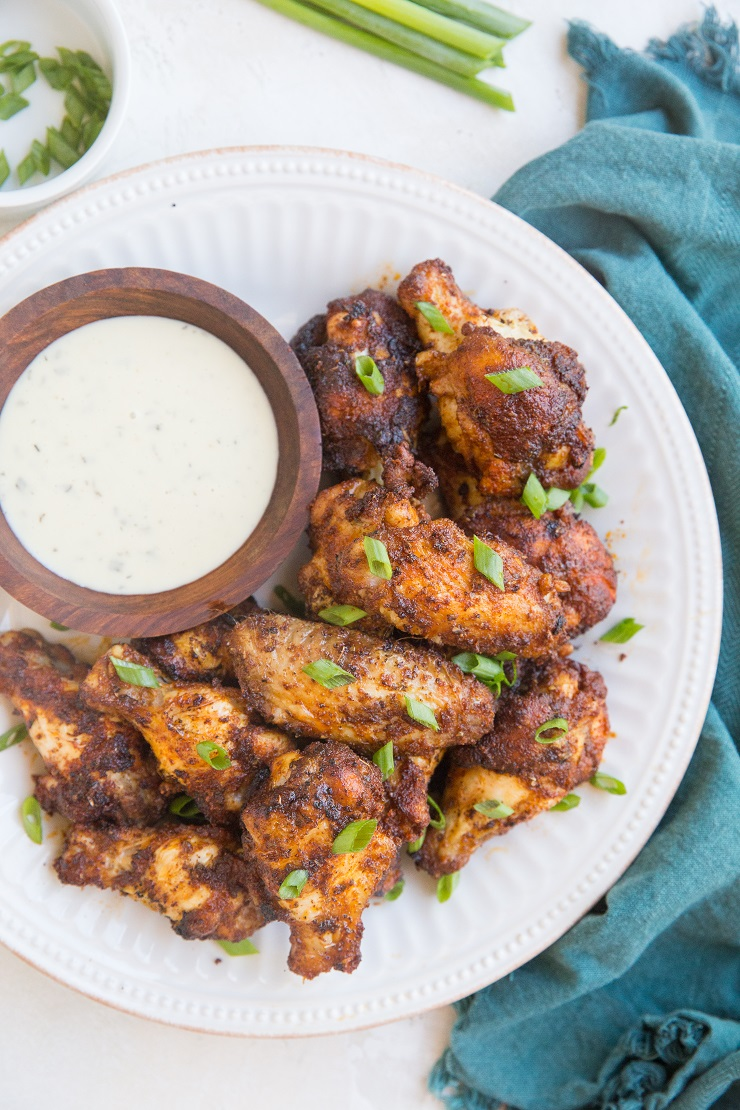 Easy Air Fryer Chicken Wings with a delicious dry rub. Quick, simple, perfectly crispy yet tender!