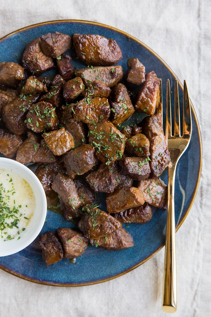 Easy Steak Bites made in the air fryer. Crispy, tender, perfectly seasoned.