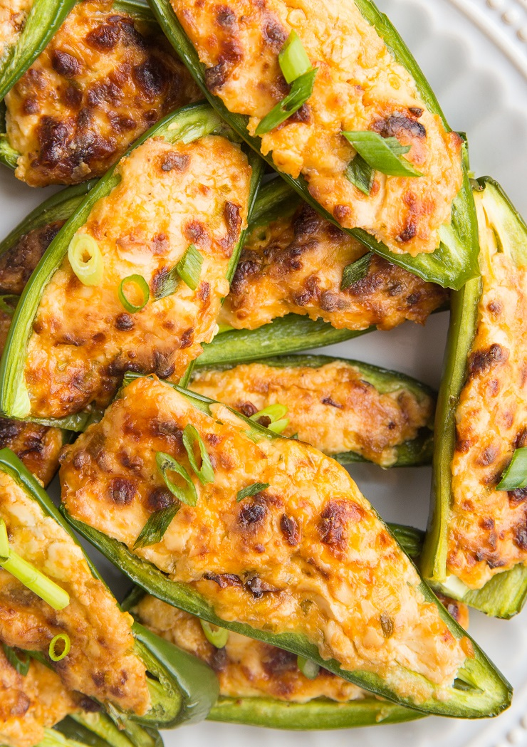 Easy Jalapeno Poppers made gluten-free, grain-free and keto friendly. A delicious two-bite appetizer recipe!