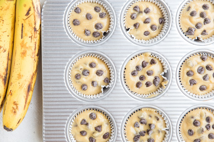 Fill the muffin holes 3/4 of the way up with muffin batter