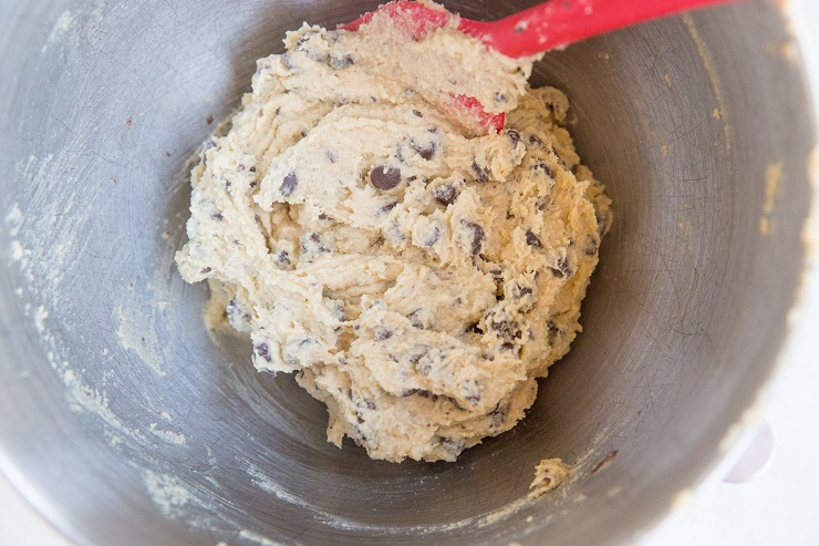 Paleo cookie dough in a bowl