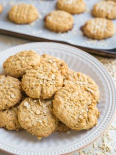 Gluten-Free Peanut Butter Oatmeal Cookies are the perfect combination of two classic favorites! Easy to make and loved by all, these flavorful cookies are a pure joy.