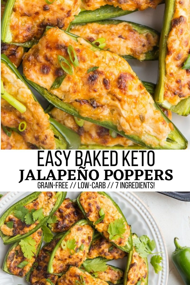 Easy 7-Ingredient Keto Jalapeño Poppers ready in 25 minutes! A fun, cheesy delicious appetizer for any occasion!