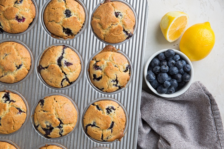 Keto Lemon Poppy Seed Muffins with Blueberries are a delicious breakfast or snack that is low-carb and sugar-free