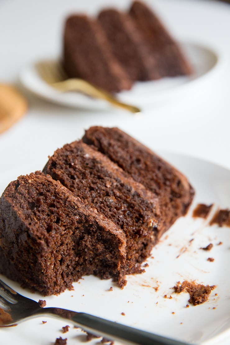 Triple Chocolate Paleo Chocolate Cake - grain-free, refined sugar-free, dairy-free, amazingly moist, rich and delicious!