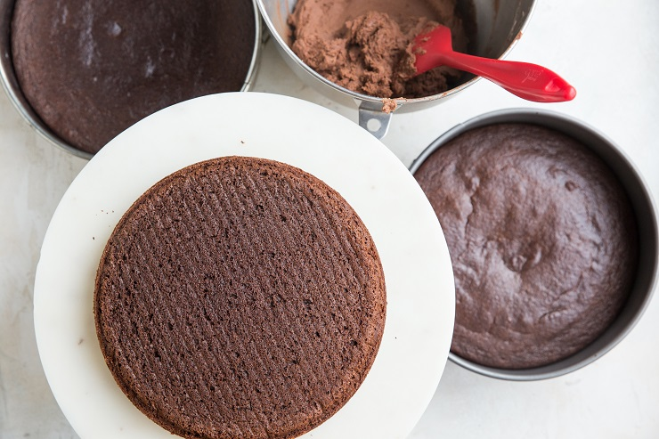 Allow the cakes to cool before frosting