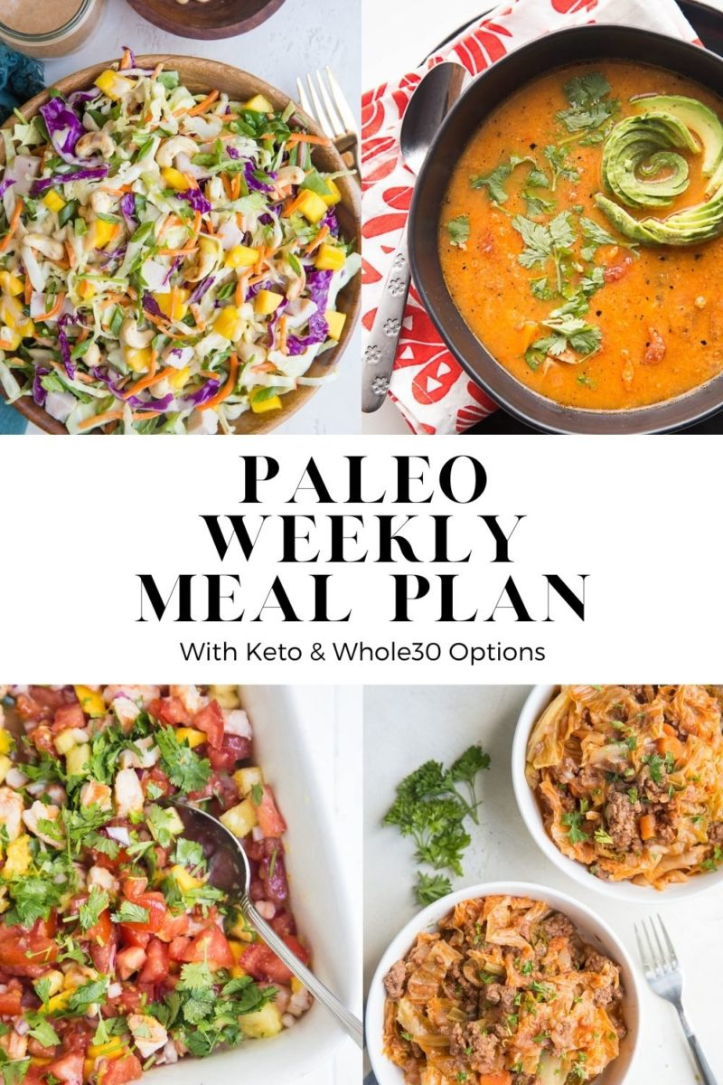 Paleo Weekly Meal Plan - a whole food focused healthy weekly meal plan to make meal prep seamless and delicious!