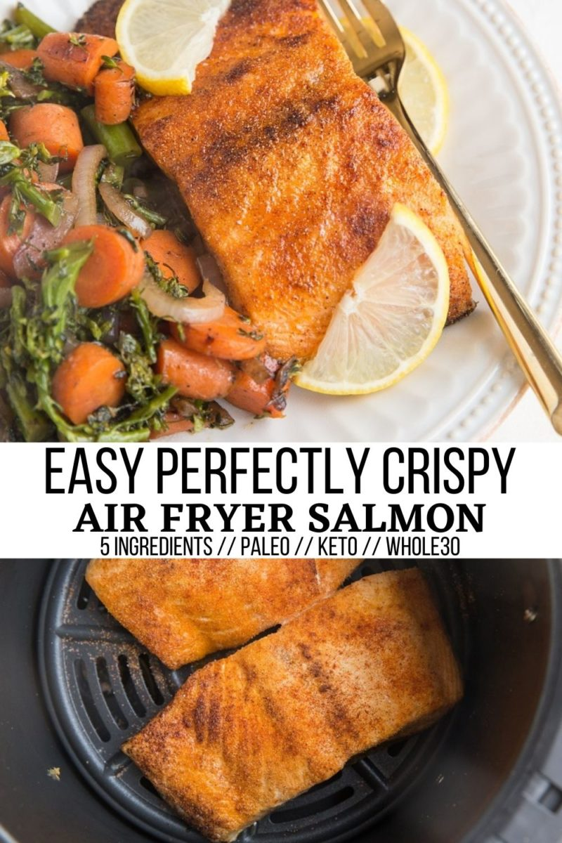Crispy Air Fryer Salmon - a quick, easy, amazing method for cooking salmon!