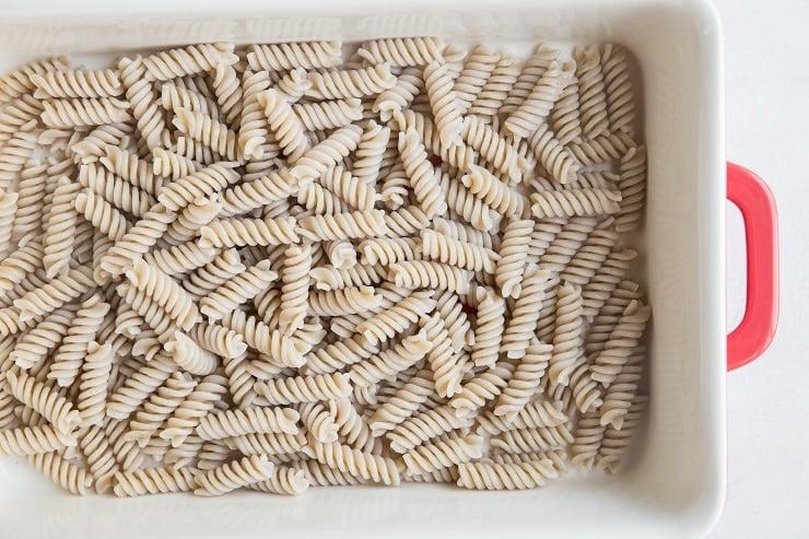 Gluten-free spiral noodles