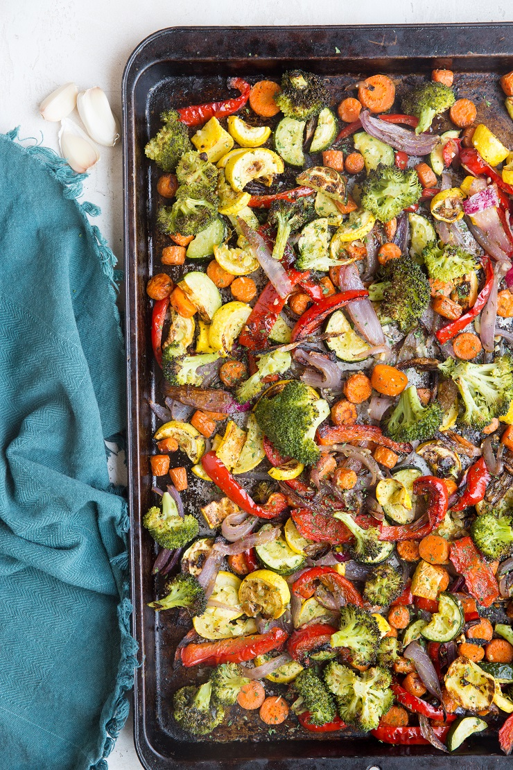 Easy Garlic Herb Roasted Vegetables is a delicious, comforting and healthy side dish to any meal!