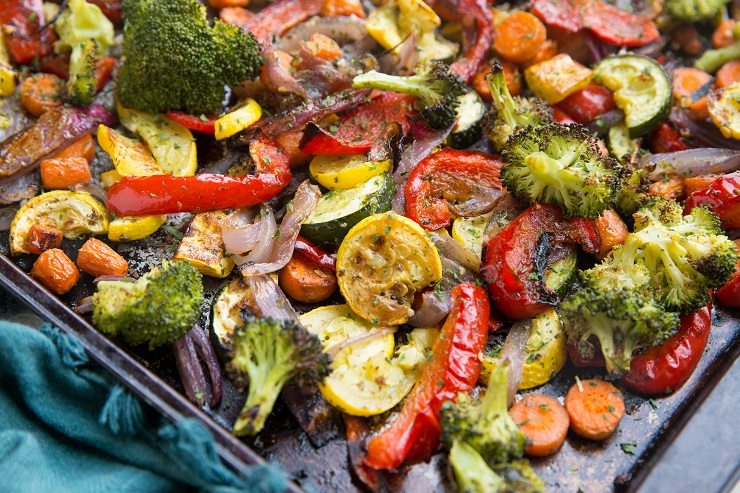 Garlic and Herb Roasted Vegetables are easy to prepare and are a healthy side dish to any meal