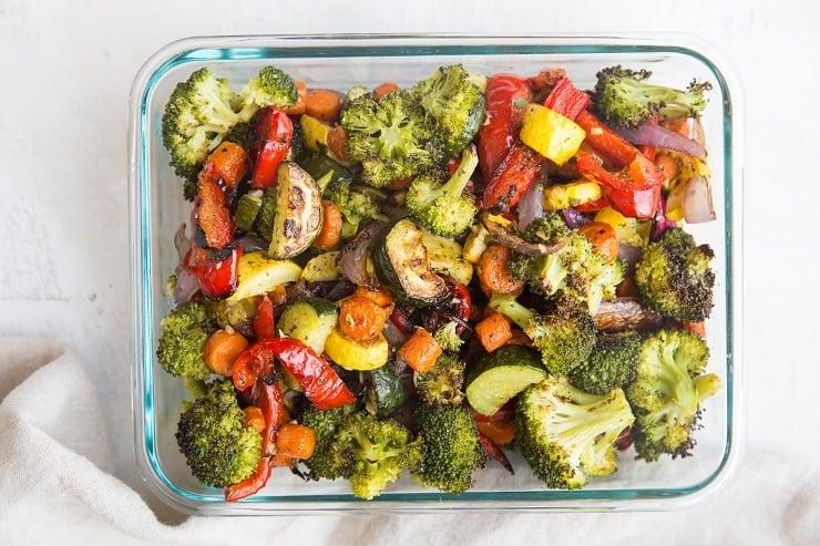 Meal prep roasted vegetables