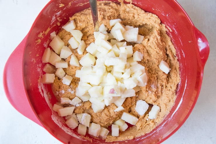 Mix in the chopped apple