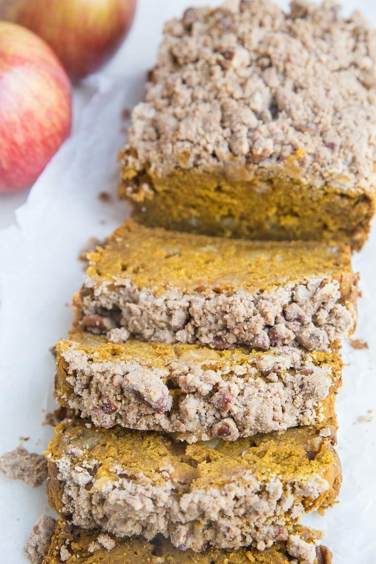 Gluten-Free Apple Pumpkin Bread - dairy-free, refined sugar-free, healthy