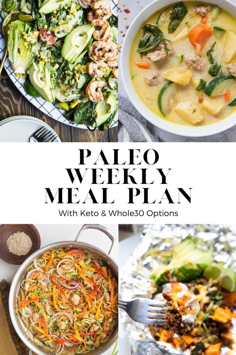 Paleo Weekly Meal Plan - a grain-free, whole food centric meal plan ideal for those who love to eat clean during the week and make their meals ahead of time!