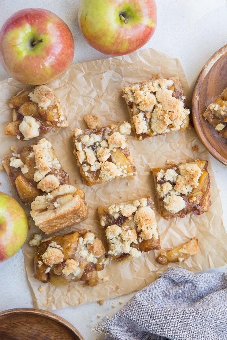 Apple Crumb Bars - paleo, vegan, grain-free, refined sugar-free, dairy-free
