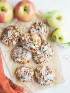 Baked Apple Fritters - gluten-free, dairy-free, refined sugar-free easy oven-baked apple fritters for a healthier take on the classic recipe
