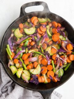 Easy Sautéed Vegetables Recipe - how to make delicious, perfect veggies every time! A lovely side dish to any entrée.