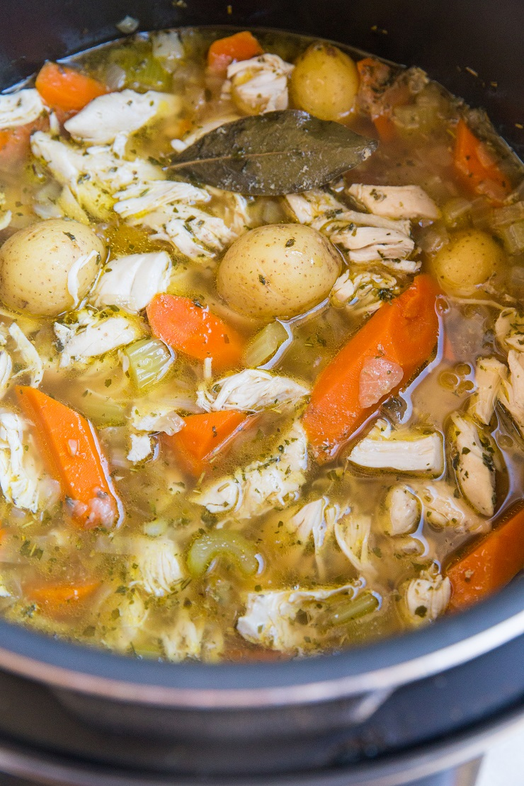 Add the shredded chicken back to the Instant Pot