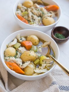 Instant Pot Chicken Stew - an easy, ultra comforting healthy dinner recipe ready in less than 30 minutes!