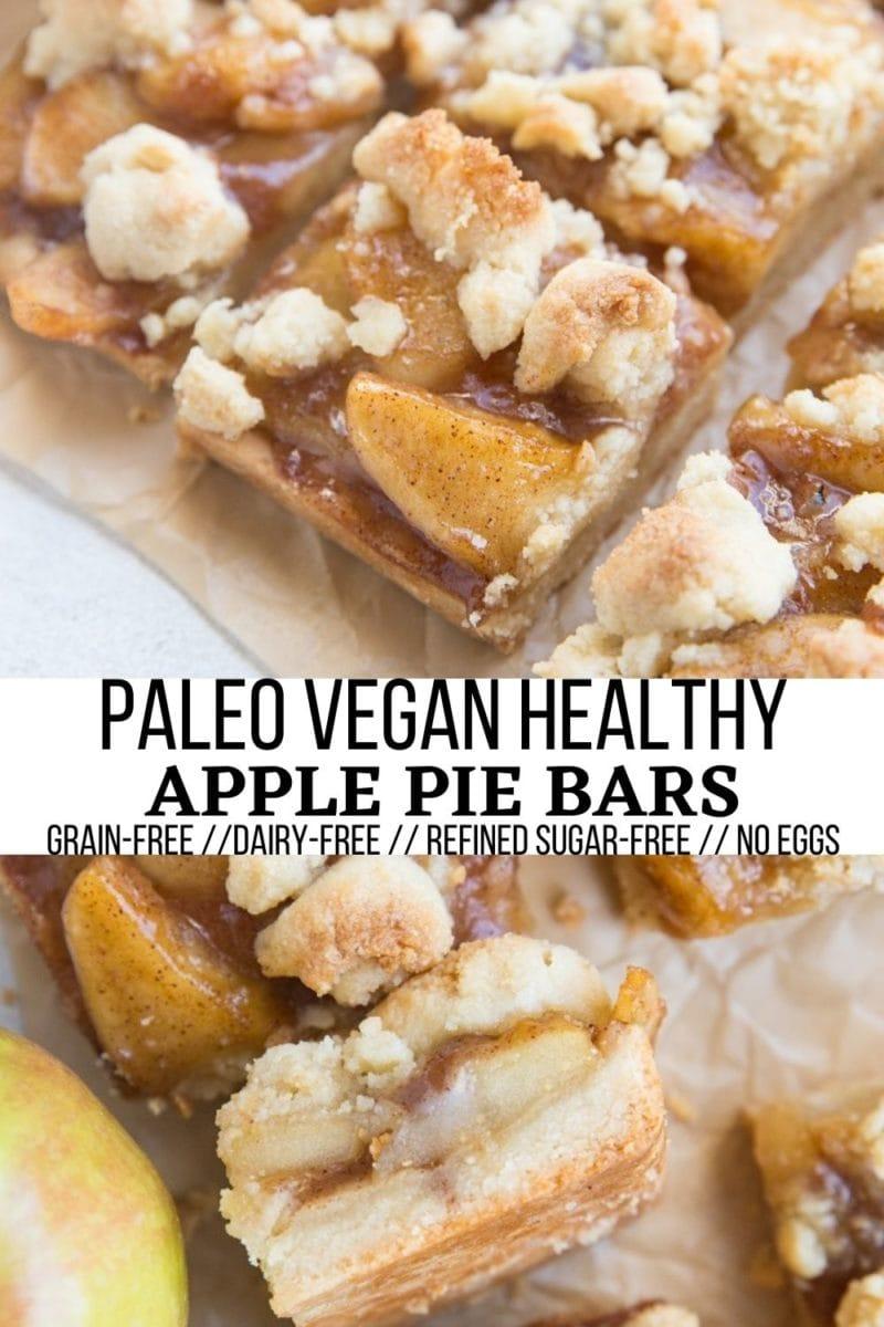 Paleo Vegan Apple Pie Bars - egg-free, grain-free, refined sugar-free, dairy-free, incredibly delicious healthier dessert recipe!
